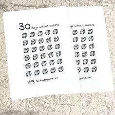 30 dagen zonder snoep gewoonte Tracker Planner Stickers