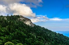 The Devil's Courthouse stands 5,720 feet tall beside the Blue Ridge Parkway near Asheville, North Carolina.
