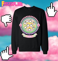Leave Me Alone INSULT Mouse Pointers Sweatshirt in Black // Pastel Grunge // Pastel Goth // fASHLIN on Etsy, $50.00