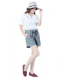 Magnolia white cotton shirt  Cost 1090 Baht 1USD = 33Baht