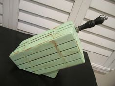 Upcycled Cottage Chic Solid wood KNIFE BLOCK for by happykristen, $55.00