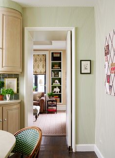 details wallpaper, chair, roman shade, backsplash, etc; Savvy Home: Designer Crush: Ashley Whittaker