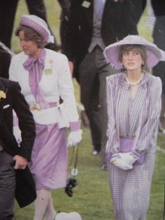 245) June 16, 1981 - Lady Diana attends Royal Ascot with Prince Charles, and later she watches him at Polo.