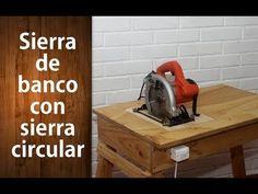 ¿Cómo hacer una sierra de banco con una sierra circular? Parte 1 | Bench saw with a circular saw. - YouTube