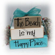 The Beach Is My Happy Place Itty Bitty by ImJustSayinSigns on Etsy