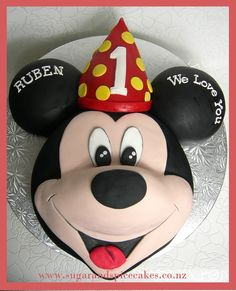 Mickey Mouse Cake By Mel SugarMama Designer Cakes, Cupcakes & Sugarcraft www.sugarandspicecakes.co.nz