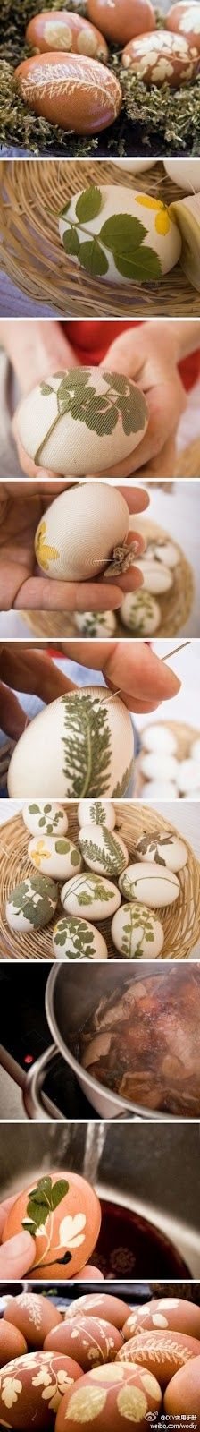 Ovos decorados (love these earthy looking Easter eggs) Easter Crafts, Holiday Crafts, Holiday Fun, Fun Crafts, Diy And Crafts, Crafts For Kids, Easter Ideas, Easter Dyi, Easter Brunch