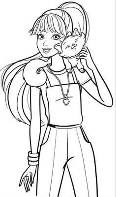 Barbie Coloring Pages, Princess Coloring Pages, Cartoon Coloring Pages, Barbie Colouring, Coloring Book Pages, Unique Coloring Pages, Coloring Pages For Girls, Coloring For Kids, Adult Coloring