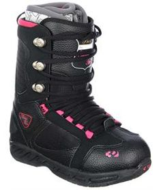 The 32 - Thirty Two Prion Snowboard Boots are a fun and flirty way to express your girly side while out on the slopes. The cute color combination will show the inner you while you shred snow all day. But these boots are not just fun to wear; they are designed really well, for high comfort for a day on the slopes. These boots are completely water resistant to keep your feet dry, and well insulated to keep your feet warm and padded.
