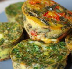 Paleo Egg Muffins  Tomato/ Basil Kale/Garlic Cilantro/Green Onion