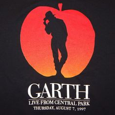 1997 Garth Brooks Live from Central Park Concert T-Shirt Tee HBO Special Size XL