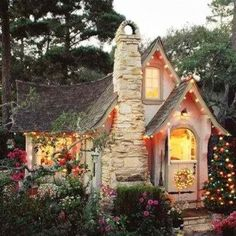 Fairy tale cottage at Carmel By The Sea, California/ looks like its from hansel and Gretel  kinda of creepy