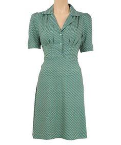 Another great find on #zulily! Antique Green Diner Dress #zulilyfinds