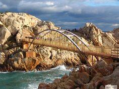 Bridge to Daewangam Rock at Ulgi Park