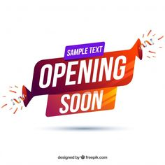 Opening soon background with typography Free Vector Poster Background Design, Background Banner, Vector Background, Software, Vector Free Download, Ad Design, Graphic Design, Sticker Shop, Banner Template