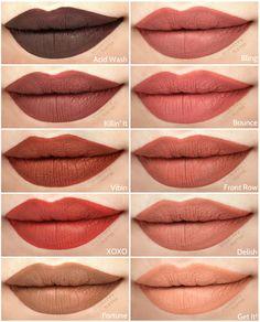 44 ideas for makeup lips matte life Lipstick Swatches, Makeup Swatches, Lipstick Shades, Lipstick Colors, Lipgloss, Makeup Lipstick, Liquid Lipstick, Maybelline Lipstick, Makeup Cosmetics