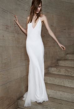 Casual Wedding Gowns With Simple Style for your Second Walk Down the Aisle. #weddings #secondwedding #simple