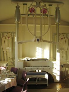 Love Charles Rennie Mackintosh, but I'm not sure about the piano.