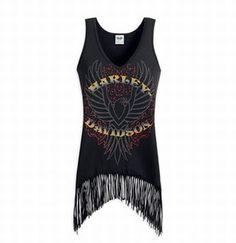 Harley-Davidson® Womens Fringed Eagle Tank Top