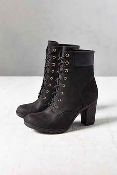 where to get timberland heels black
