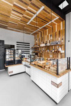 Imagem 13 de 28 da galeria de Padaria Przystanek Piekarnia / Five Cell. Bakery Shop Interior, Bakery Shop Design, Coffee Shop Design, Cafe Interior, Shop Interior Design, Cafe Design, Retail Design, Restaurant Design, Design Design