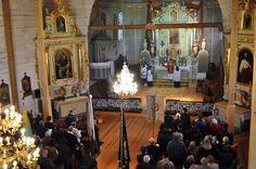 Msza trydencka w lipcu 2016 / Wnętrze kościoła pw św Marka Ewangelisty /skansen w Kolbuszowej
