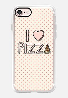 Casetify iPhone 7 Classic Grip Case - I Love Pizza by Tangerine- Tane #Casetify