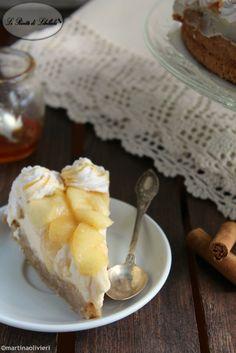 #Cheesecake alla #mela e #caramello #ricetta #foodporn #gialloblogs