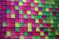 Colorful Crochet Blanket Pattern Flying Colors by FeltedButton