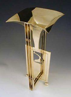 Koloman Moser Brass Vase