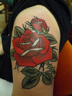 Rose tattoo - Love this linework!