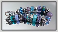 My PurpleTeal bracelet reedited-from Tatiana a collector on Trollbeads Gallery Forum.  Join us! Thank you Tatiana!