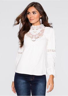 Shirt z koronką Shirt marki Bodyflirt - • 74.99 zł • bonprix