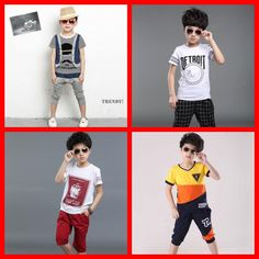 2015 Kid Boys Sports Print Outfits Sets Patchwork Summer Shirts And Shorts Sweet Fashion Sports Clothing Multi Style for 2-7 Years Old Online with $10.84/Piece on Smartmart's Store | DHgate.com