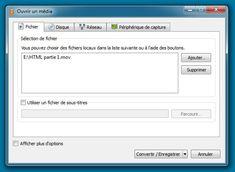 Convertir des vidéos avec VLC