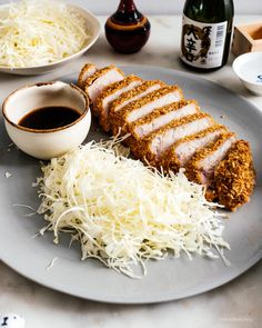 Easy oven baked pork tonkatsu: An extra thick, super juicy pork chop done up tonkatsu style, with light and crispy panko, only baked instead of deep-fried. Easy Pork Chop Recipes, Baked Salmon Recipes, Pork Recipes, Katsu Recipes, Fall Recipes, Asian Recipes, Seared Pork Chops, Juicy Pork Chops, Baked Pork