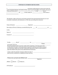 The notary who can grant the power of attorney also has the power to cancel it with the revocation of the power of attorney form. It can be used for official records where allowed by law. Free to download and print