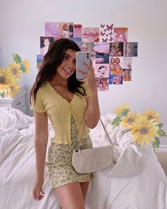 pastel yellow spring outfit sara joy Back To School Outfits joy Outfit pastel sara Spring yellow Indie Outfits, Teen Fashion Outfits, Girly Outfits, Cute Casual Outfits, Casual Dresses, Preteen Fashion, Teenage Outfits, Hijab Fashion, Fall Outfits