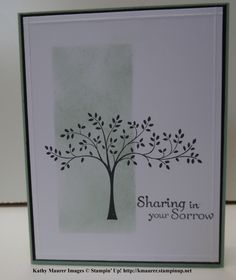 Sympathy Card made with Stampin' Up!'s Thoughts & Prayers Stamp Set.  For details, go to my Wednesday, March 23, 2015, blog at http://kmaurer.stampinup.net