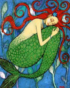 secretosdemimemoria:    Sleeping Mermaid By Margaret Blanchett