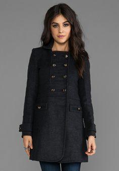 MARC BY MARC JACOBS Nicolette Wool Coat in Dark Charcoal Melange - This looks so cute!!