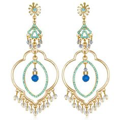 Blue Samba Chandelier Earrings