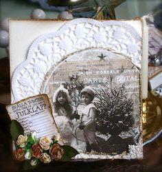 A christmas card using the free digi stamp of the month DT ScrapLinda http://blog.pysseldags.com