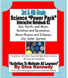 3rd & 4th Grade Interactive Science Notebook Solar System,  Check out www.NYHomeschool.com as well. Interactive Writing Notebook, Science Writing, Science Vocabulary, Science Lessons, Teaching Science, Interactive Notebooks, Writing Activities, Science Ideas, Science Fun
