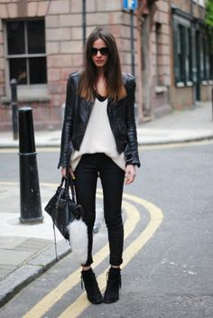 Ankle grazing trousers, teamed with knitwear and ankle boots; the go-to off-duty…