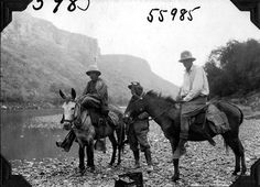 https://flic.kr/p/71SCyZ | Expedition members on horses | Three men, unidentified expedition members, on horses. 1927.  Name of Expedition: Daily News Abyssinian Expedition Participants: Wilfred Osgood, Louis Agassiz Fuertes, C. Suydam Cutting, Jack Baum, Alfred M. Bailey Expedition Start Date:  September 7, 1926 Expedition End Date: May 20, 1927 Purpose or Aims: Zoology Mammals and Birds Location: Africa, Ethiopia [Abyssinia]  Original material: 4x5 inch interpositive film Digital…