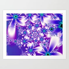 Purple Fractal Flower Pattern created by Tracey Lee Art Designs. Available on many products. Fractal Images, Fractal Art, Fractals, Colorful Flowers, Purple Flowers, Animal Print Wallpaper, Shabby, Fractal Design, Pattern Art