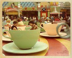 Disneyland's Mad Tea Party circa 1976.