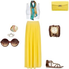 """""""Summer bohemian outfit"""" by lorena-galindo on Polyvore"""