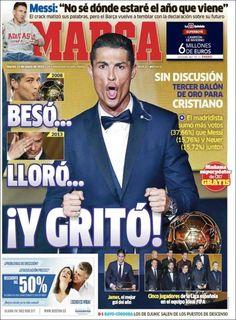 Portada Marca 13/1/2015. Cristiano Ronaldo Balón de Oro